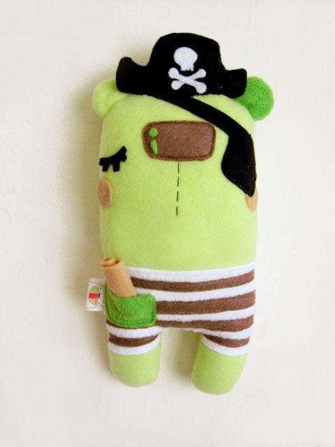 Pirate Plush by Talkproof | MONSTRUOS TRAPO | Pinterest | Pirat ...