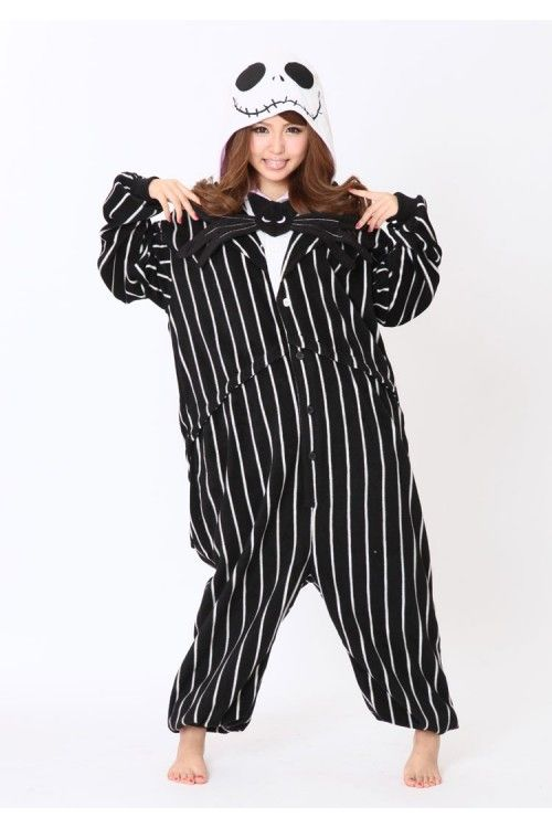 fa48b77e6e ... is a Nightmare Before Christmas snuggie. Meg would love this. Jack  Skellington Onesie Kigurumi Pajamas