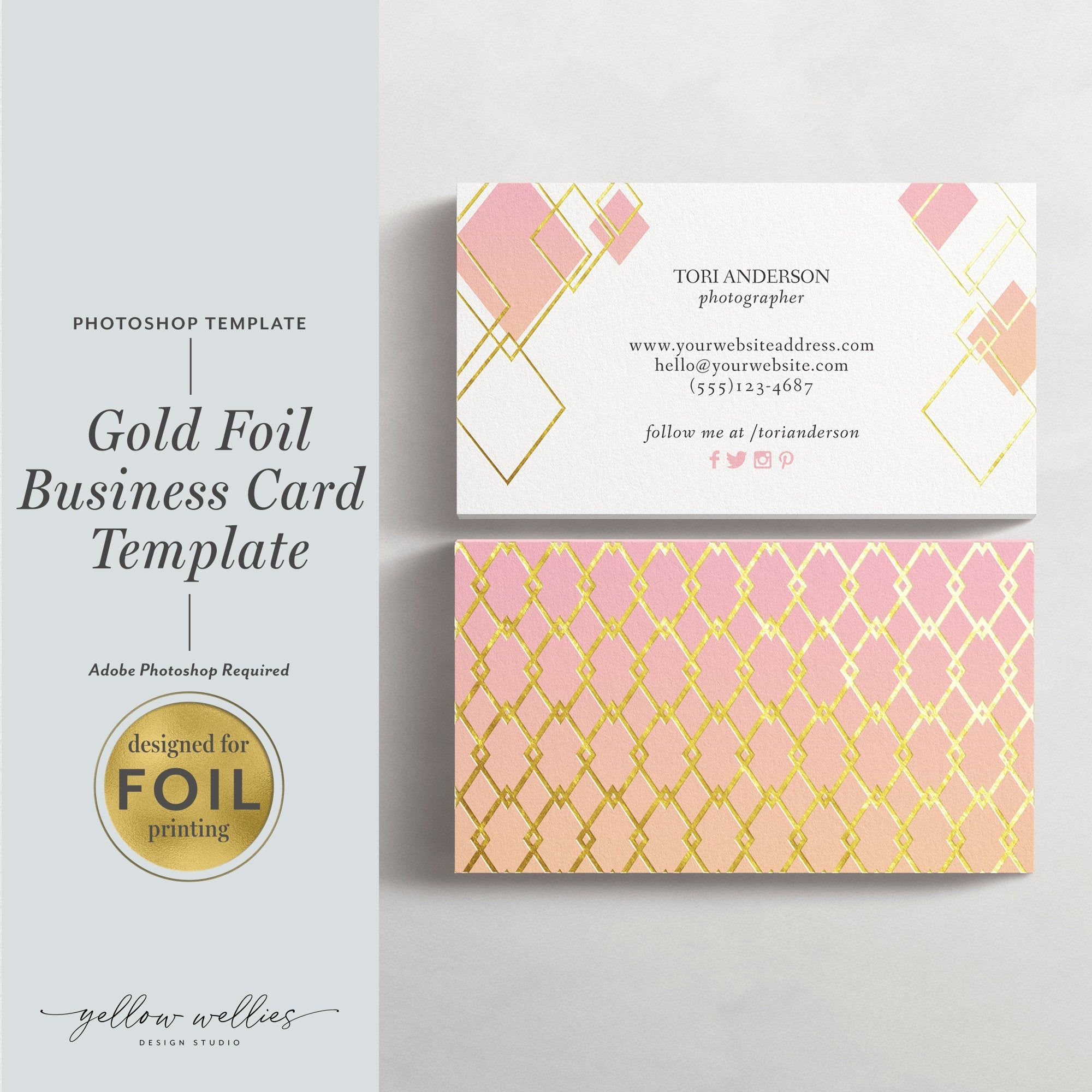 Photoshop Business Card Template Gold Foil Moo Business Card Etsy In 2021 Moo Business Cards Business Card Template Business Cards Creative