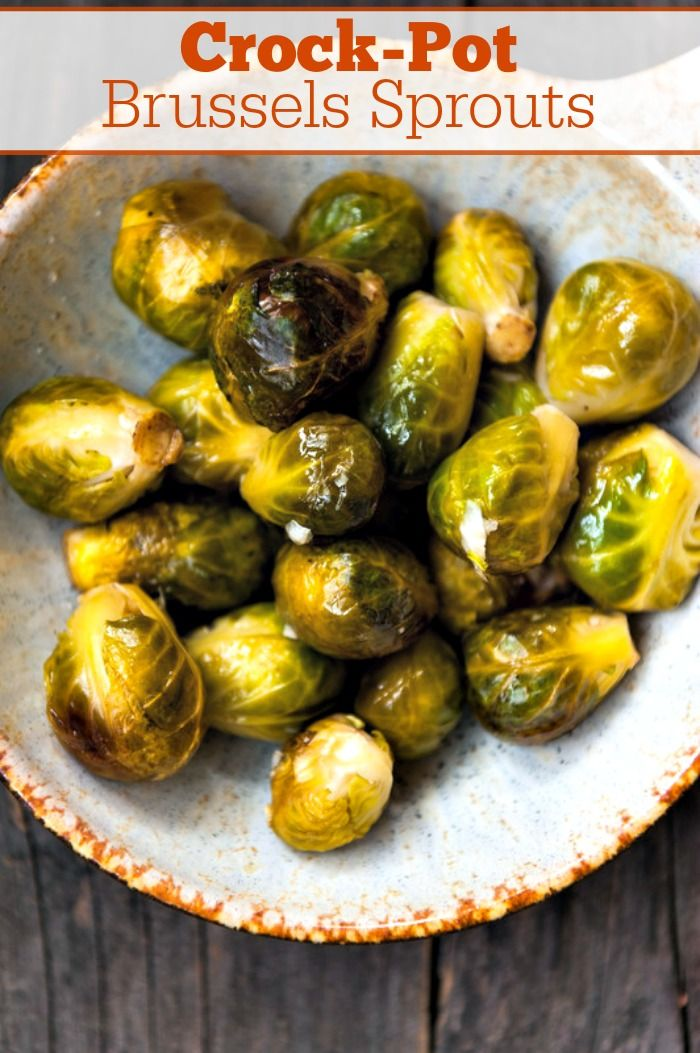 Crock-Pot Brussels Sprouts Recipe #crockpotdishes