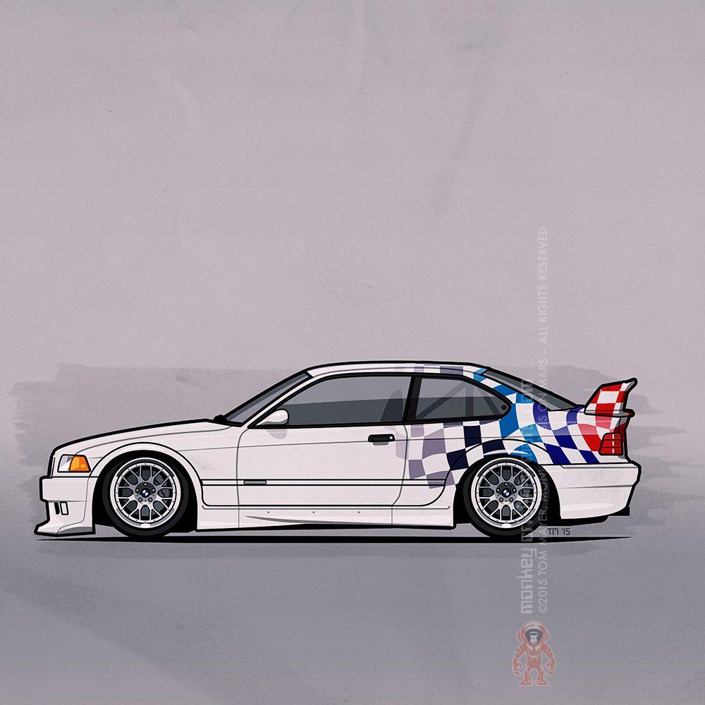 Bmw 3 Series E36 M3 Gtr Coupe Touring Car By Tom Mayer Pixels Com Bmw E36 Touring Bmw Art Bmw E36