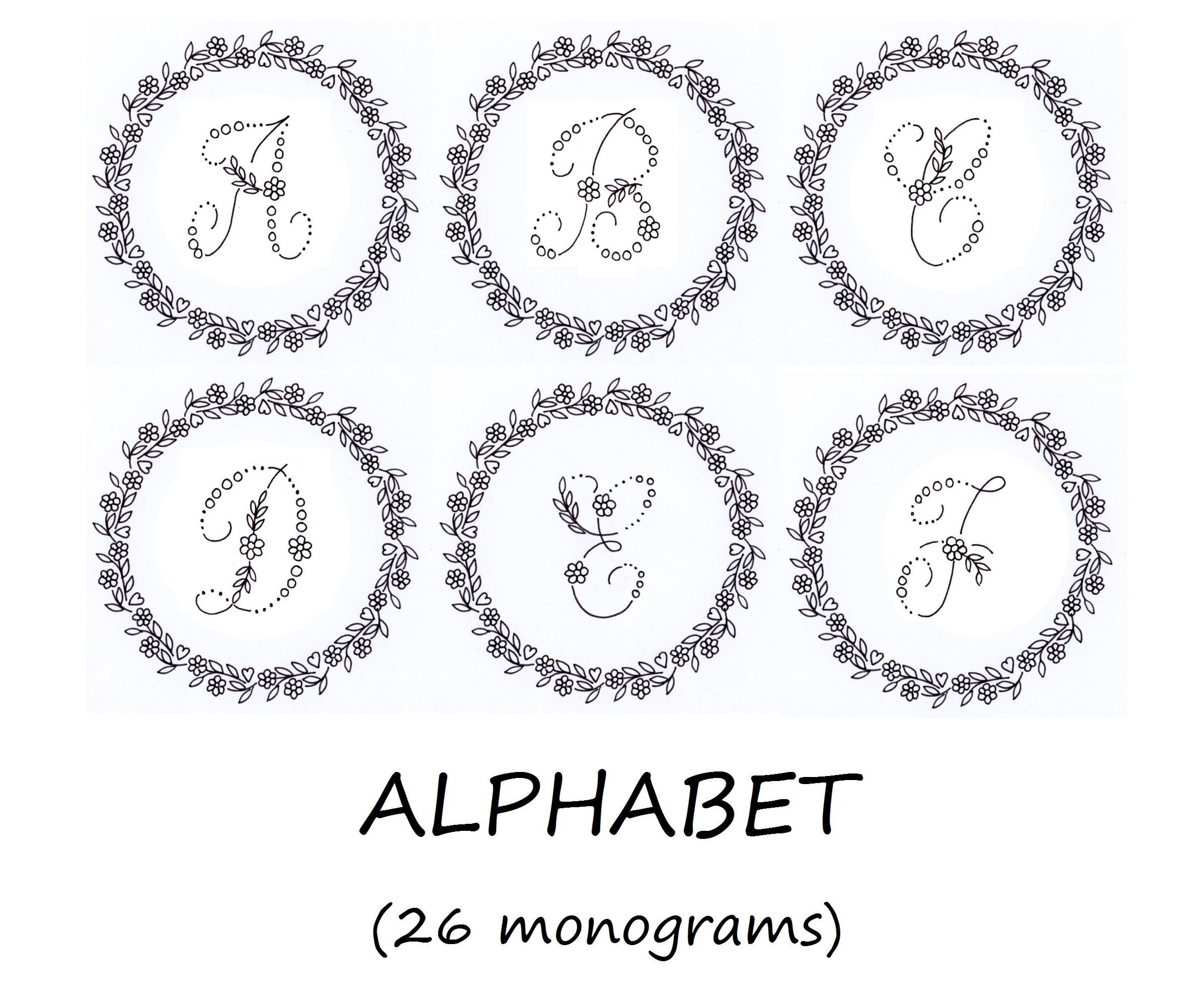 Arrow Alphabet hand embroidery pattern sewing patterns monogram embroidery patterns PDF pattern alphabet modern embroidery pouch