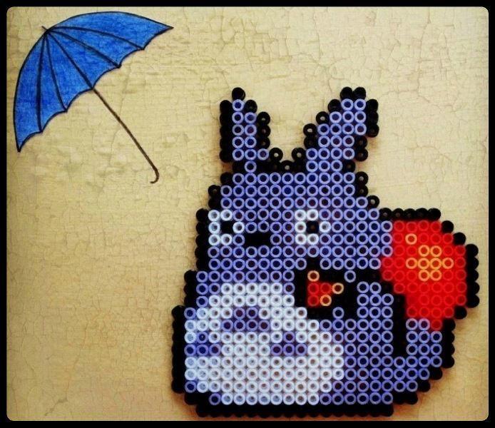 Totoro hama perler beads - Gezdiğim, gördüğüm, duyduğum bizim olsun