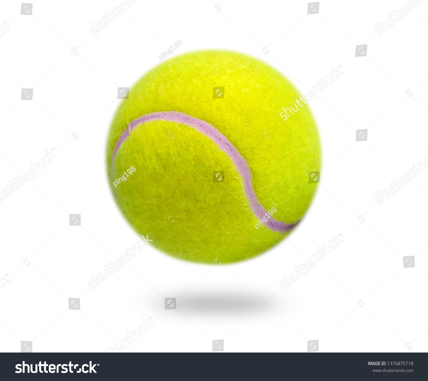 The Close Distance Of The Yellow Tennis Ball Is Pretty Clear Single Ball Isolated On A White Background That Can Tennis Ball Pretty Stock Photos Stock Photos