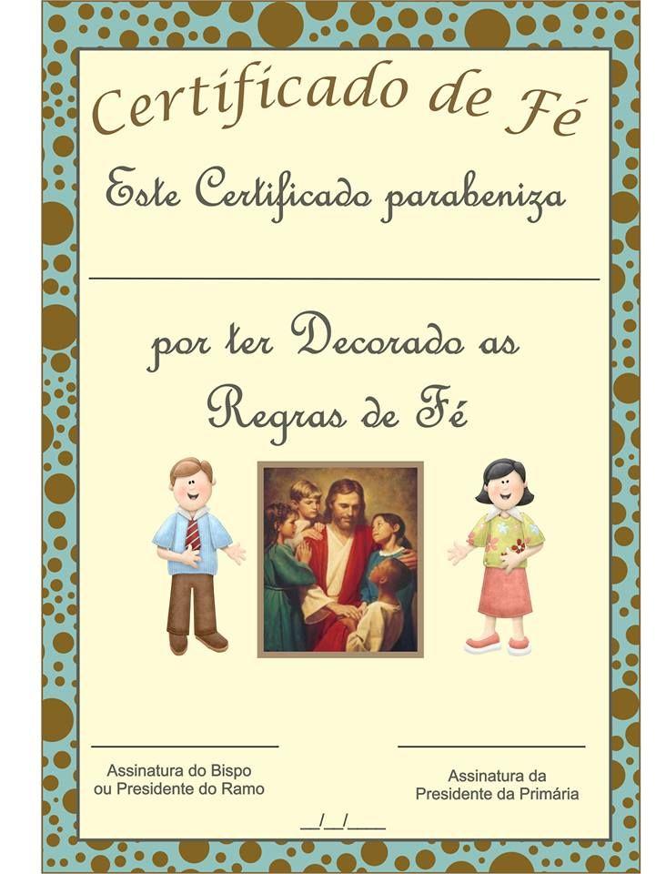 Prim Ria SUD Online Certificado Das Regras De F Escrituras