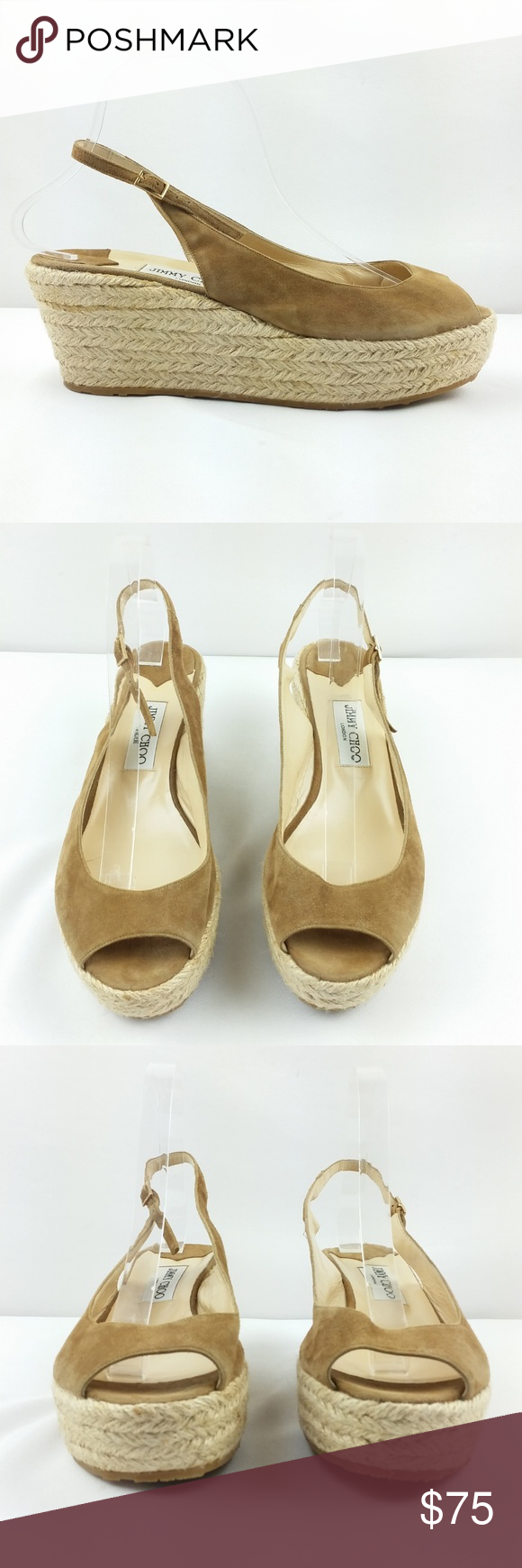 c01e1c79872 Jimmy Choo Wedge Sandal Size 41 Suede Espadrille Overall in good pre-owned  condition. Some signs of use. To prevent returns