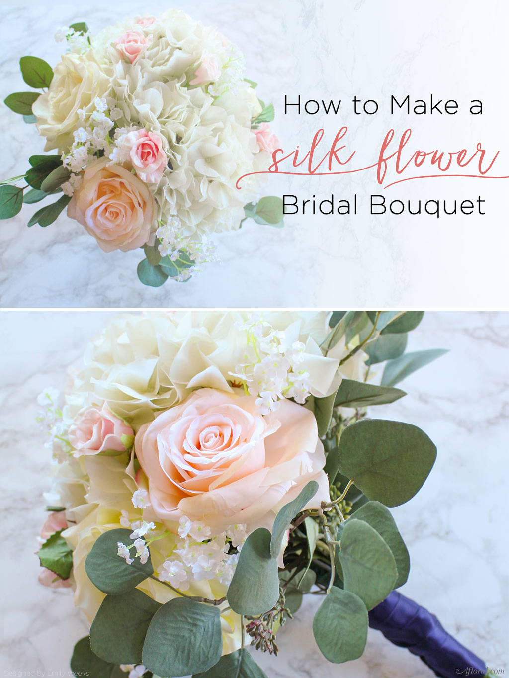 How To Make A Silk Flower Bouquet | Silk flower bouquets, Bridal ...