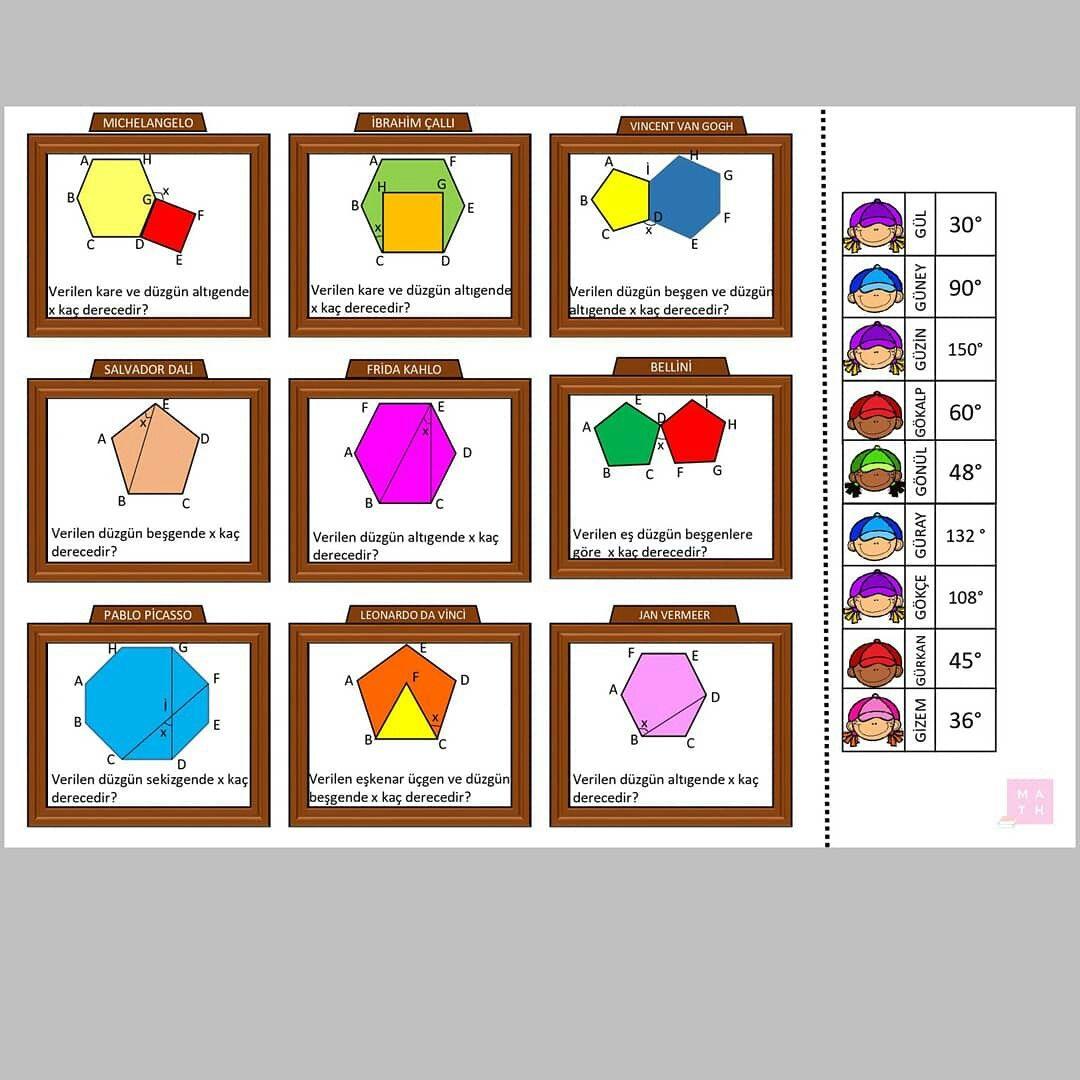 Polygons Cokgen Teacher Worksheet O Retmen O Renci