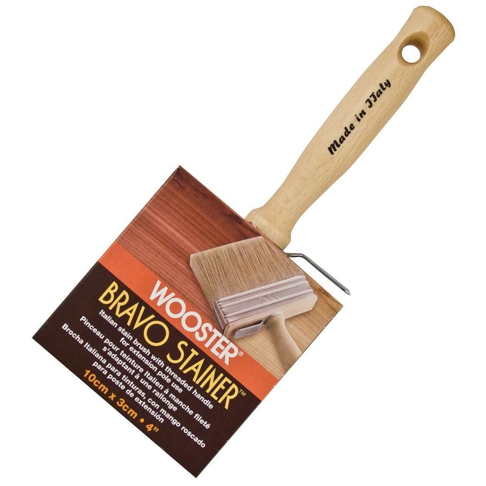 Wooster 4 In Bravo Stainer Bristle Brush 0f51160040 Wooster Brush Paint Brushes Rollers Oil Painting Supplies