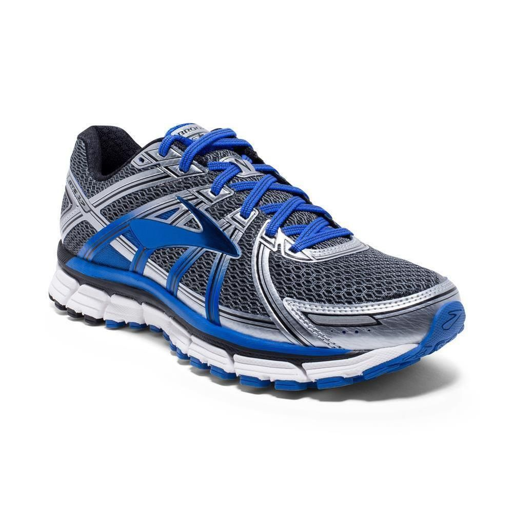 Brooks Mens Adrenaline GTS 17 Running Shoe Size 9 D GreyElectric Brooks Blue