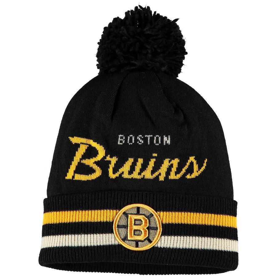 the latest af3f6 c945f ... discount code for mens boston bruins adidas black culture cuffed pom  knit hat a0e46 18008