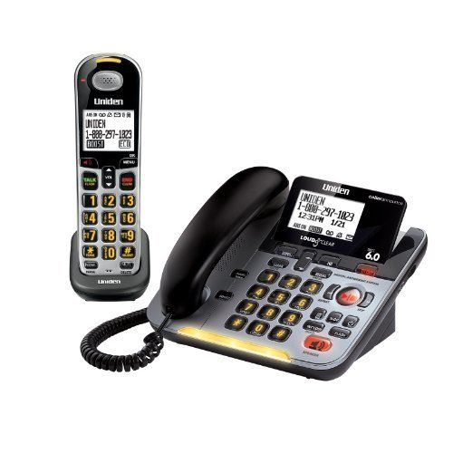 D3098s Dect 6 0 Expandable Corded Cordless Phone Withcaller Id And Answering System Silver Handset And Base By Uniden 64 Cordless Phone Phone Speaker Phone