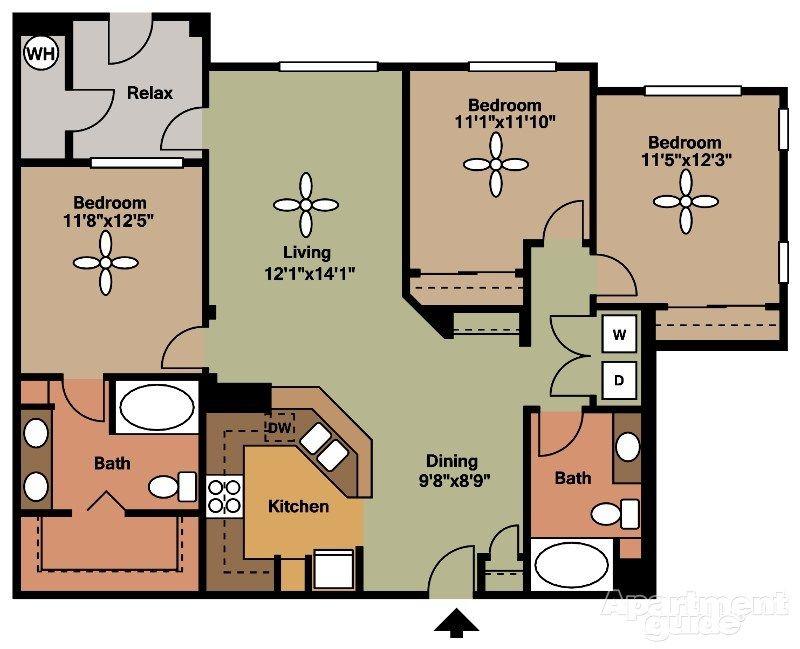 Jefferson At One Scottsdale Apartments Scottsdale Az 85255 Apartments For Rent 1345 Sq Ft Cabin Plans Scottsdale Apartments Pole Barn Homes