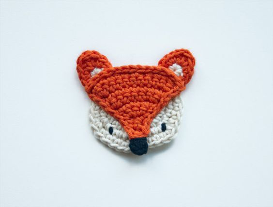 Fox applique pdf crochet pattern instant download