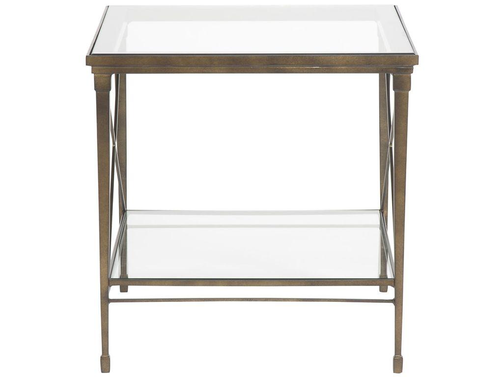 Vanguard Living Room Hardin Lamp Table / Glass Top P426L   Vanguard  Furniture   Conover,