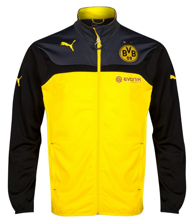 Borussia Dortmund Yellow Black Champion League Track Jacket On Soccer777 Net Jaket Berita
