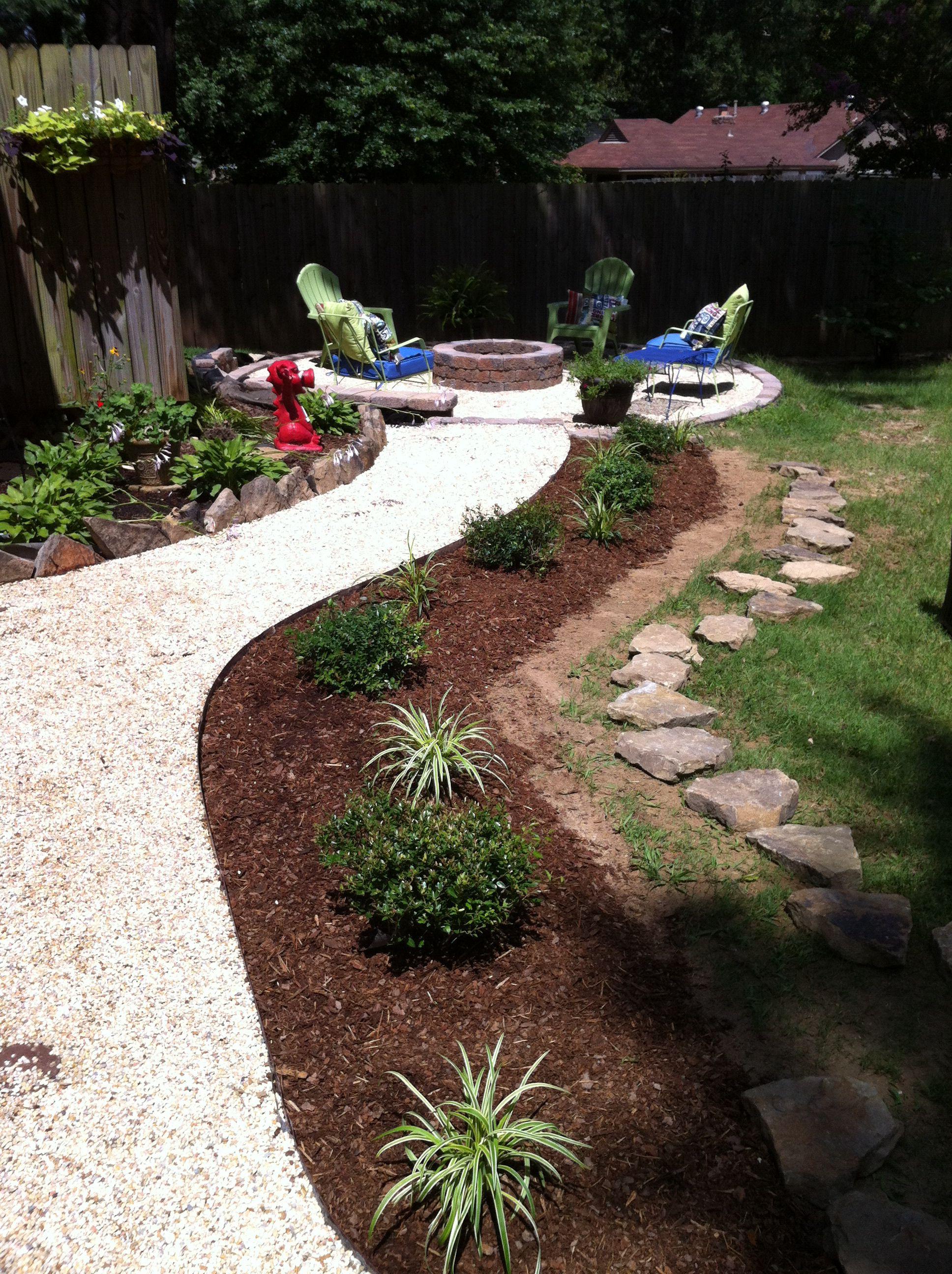 New flower bed Pea gravel patio, Gravel patio, Summer