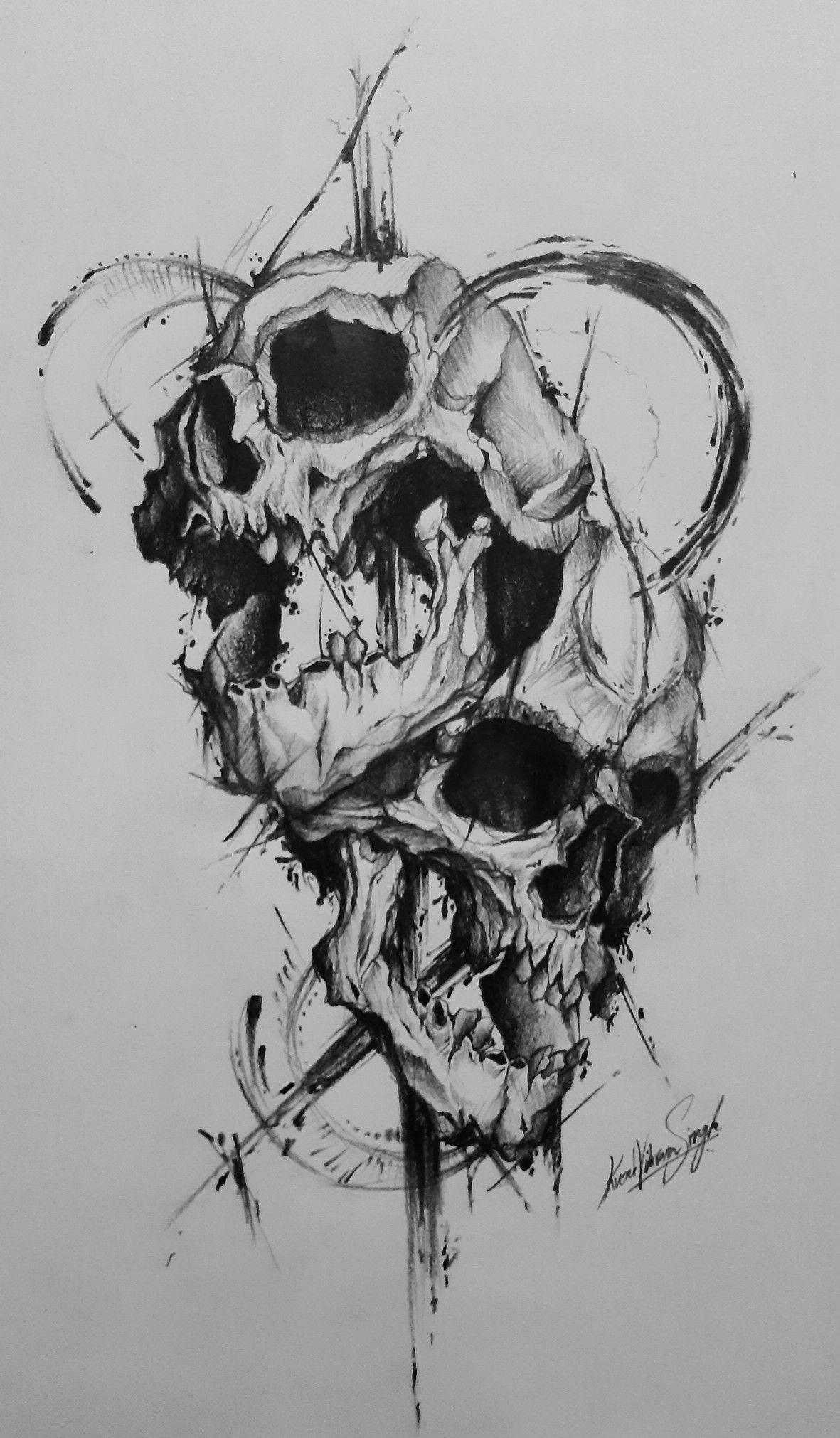 Pin By Kunal Vikram Singh On Tattoo Designs Skull Art Skull Tattoo Design Body Art Tattoos
