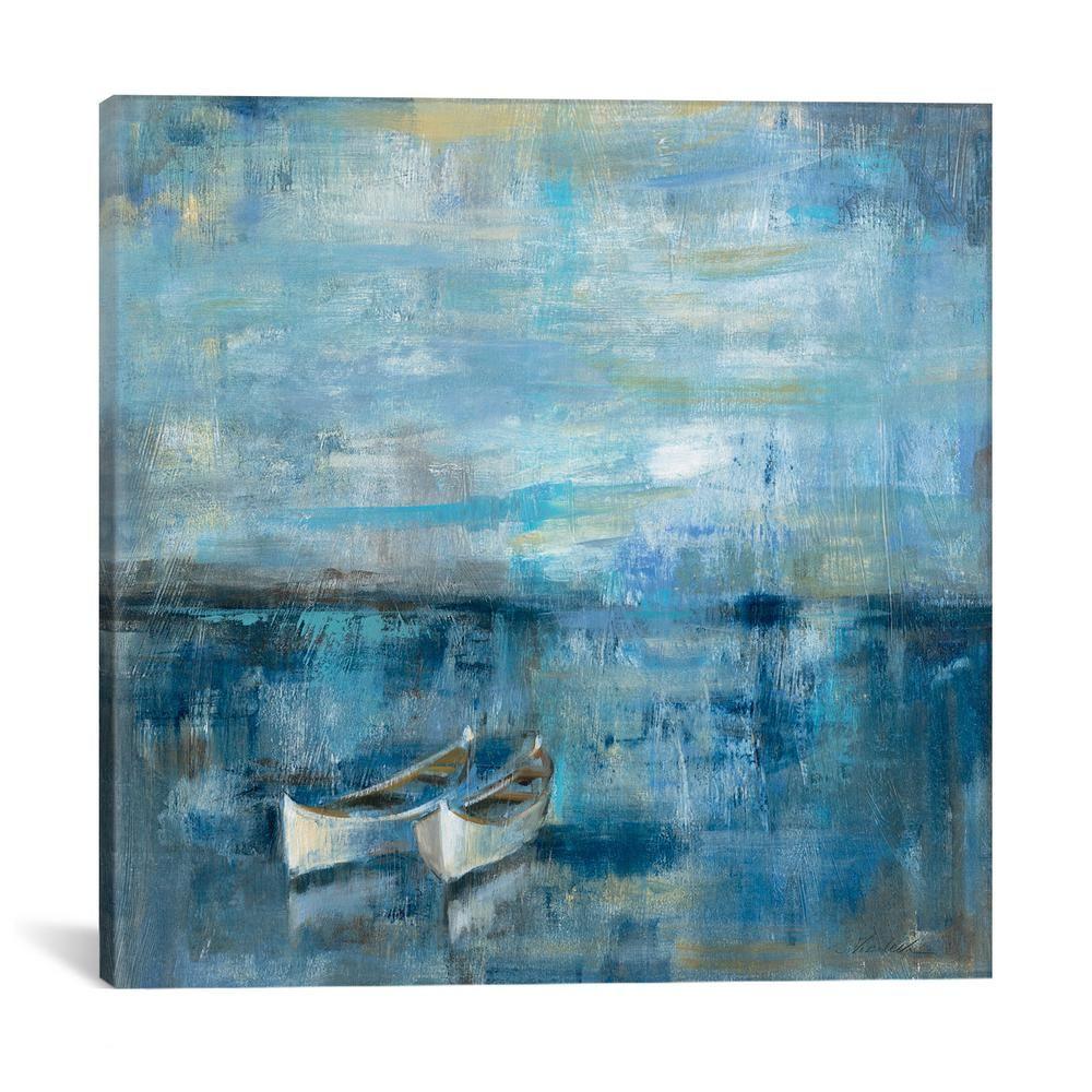 Two Boats By Silvia Vassileva Canvas Wall Art Multi Painting Boat Art Abstract
