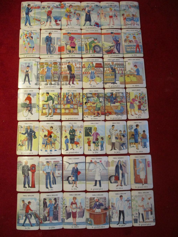 Détails sur Ancien jeu des 7 familles c1955 métiers