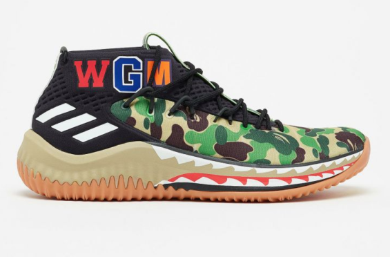 02db23aa93d8df Are You Looking Forward To The BAPE x adidas Dame 4 Green Camo  The BAPE