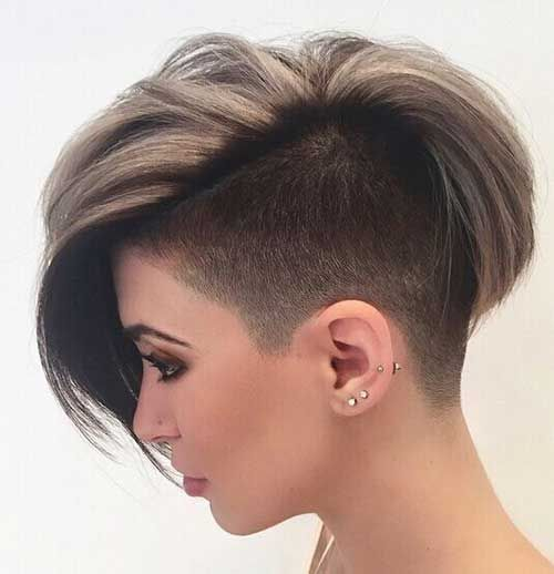 Half Shaved Head Hairstyle Awesome 20 Best Hairstyles For Short Hair  #best #hair #hairstyles