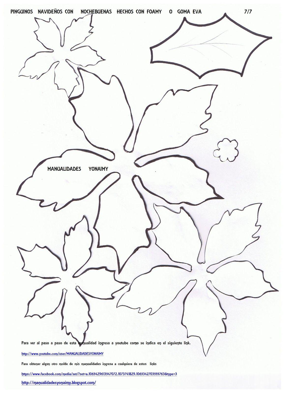 Manualidades Yonaimy Nochebuena Navidad Flor De