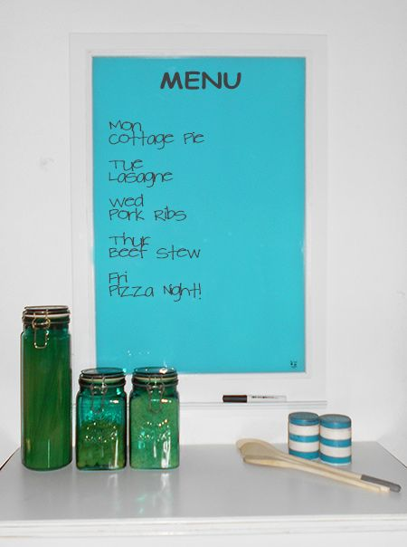 glass memo menu or notice board with rust oleum 2x spray paint mem