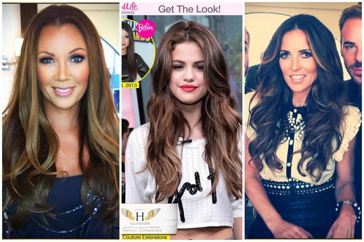 Celebrities Wearing Halo Couture Extensions Want Yours I Retail