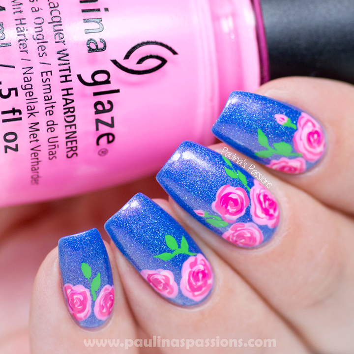 How To Make Detailed Rose Nail Art Design Video Tutorial