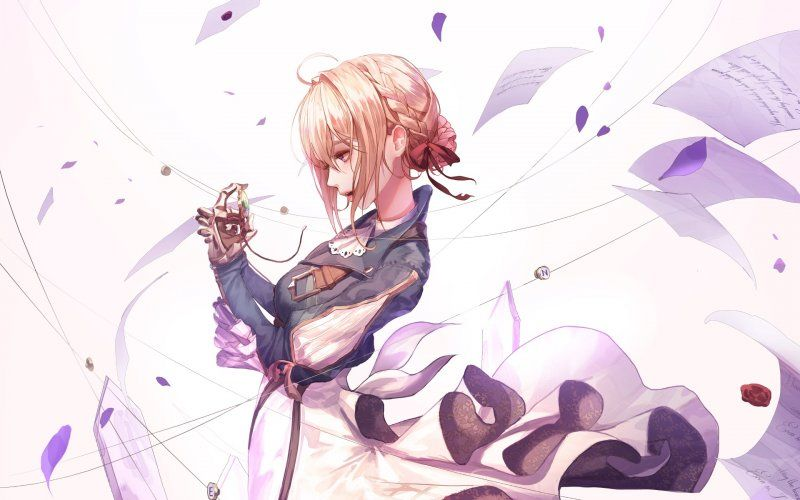 Pin On Violet Evergarden Anime Wallpapers