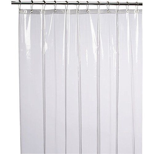 Ultra Durable Heavy Gauge Liner Keeps Your Shower Curtain Clean And Dry In PVC Free PEVA Vinyl Metal Grommets Line The Top Hanging Easily Via Roller
