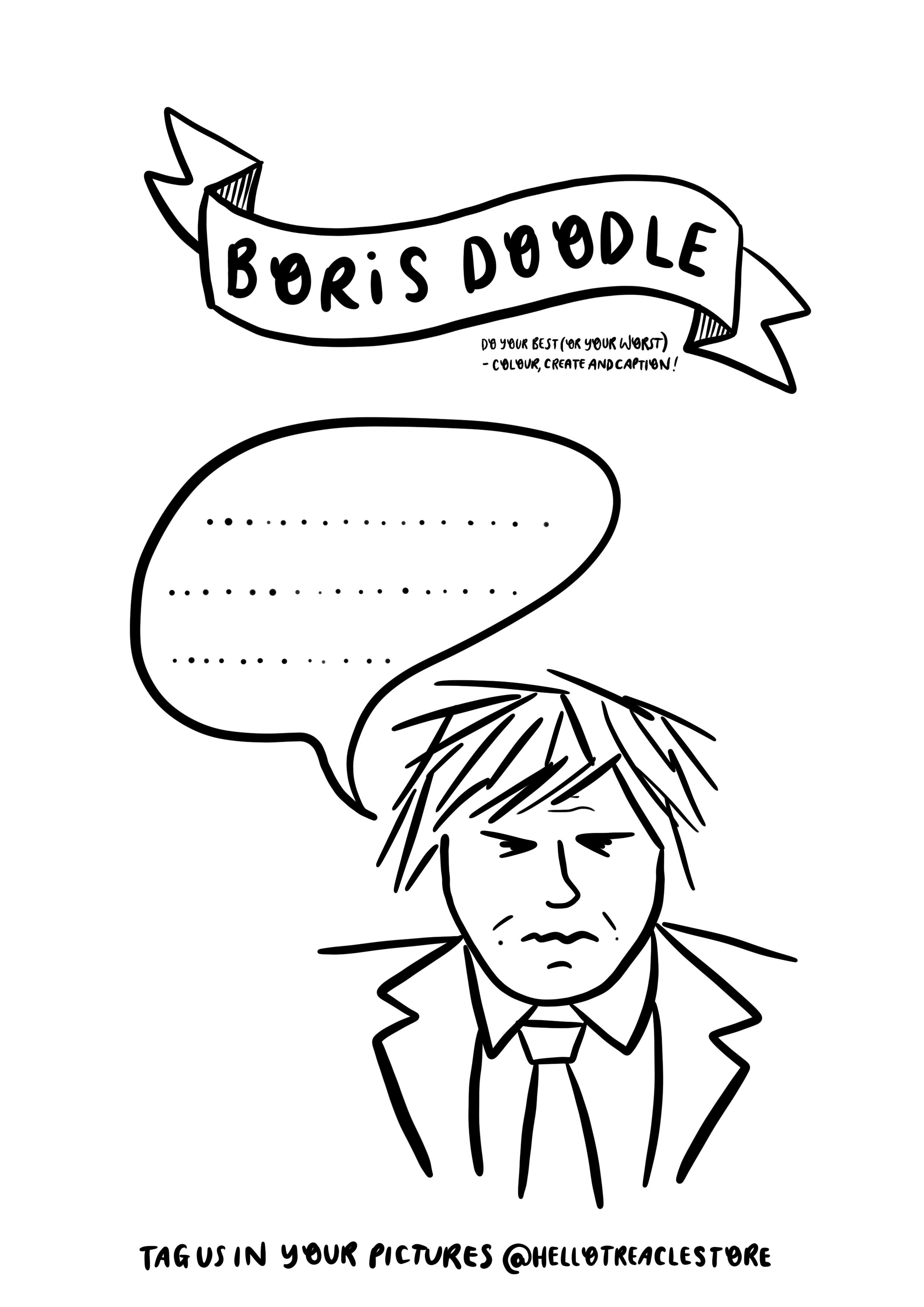 Boris Doodle Free Printable Colouring Sheet Free Printable Coloring Sheets Printable Coloring Sheets Free Printables