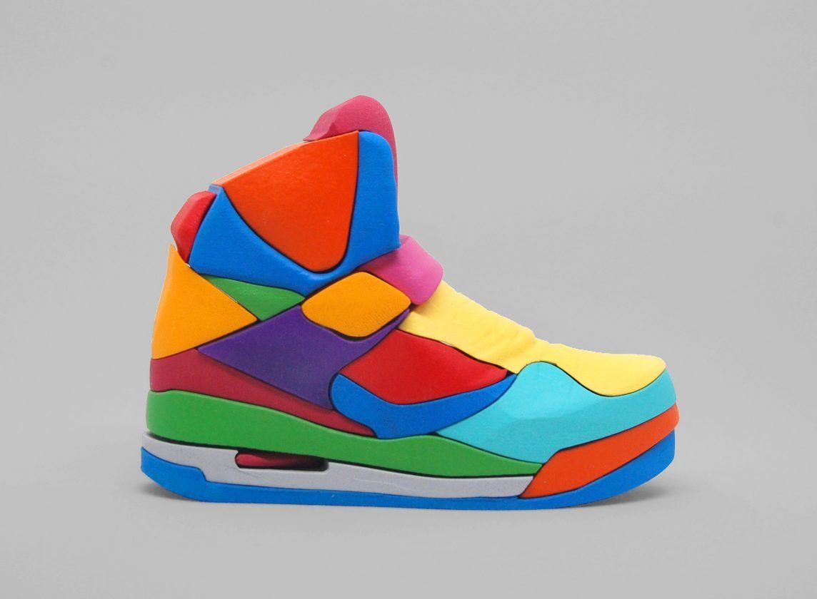 Un puzzle 3D d'une Nike Air Jordan