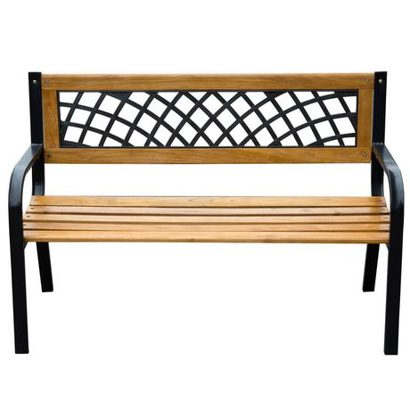 Outstanding Outsunny 47 Lattice Garden Bench Brown Products In 2019 Pdpeps Interior Chair Design Pdpepsorg