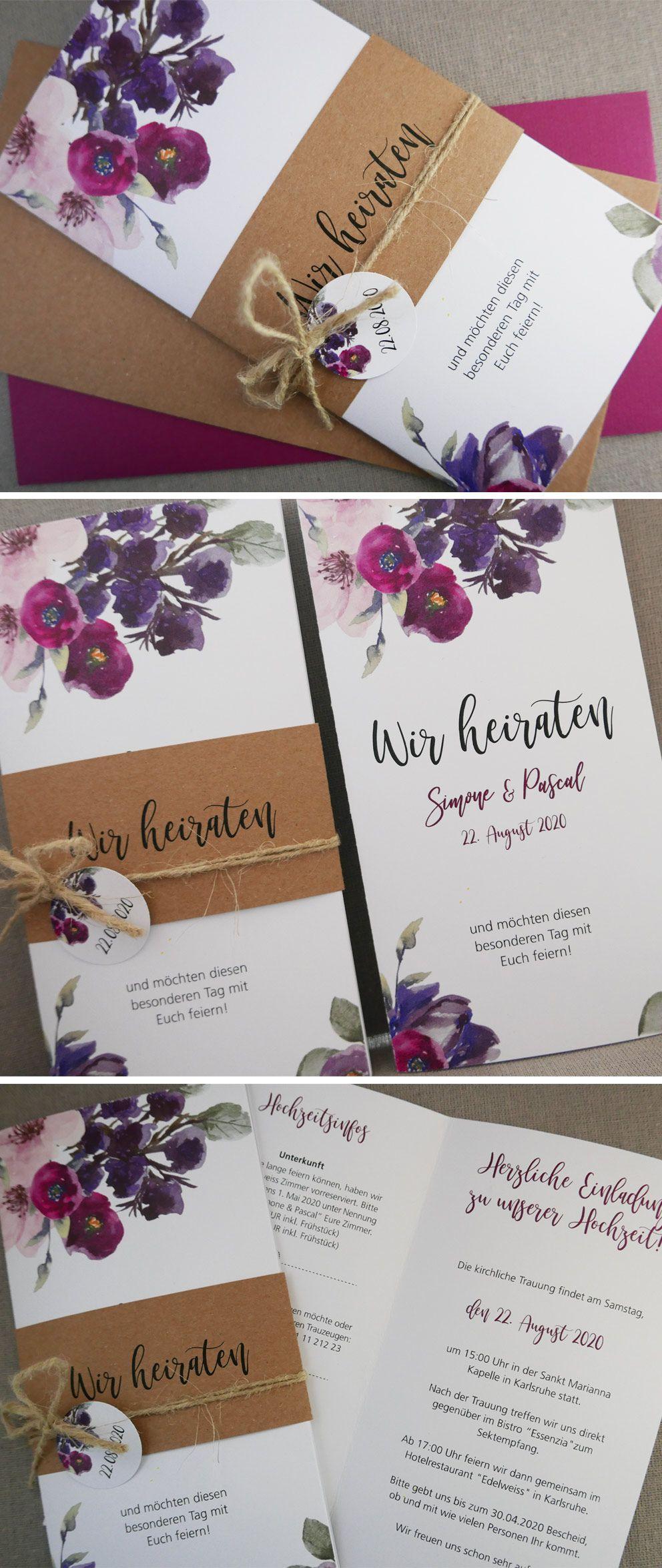 Neue Hochzeitskarte Annabell Aus Der Kartenserie The Flowers Of