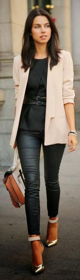 Style fashion clothing outfit women jacket blazer cream white handbag heels silver pants top summer