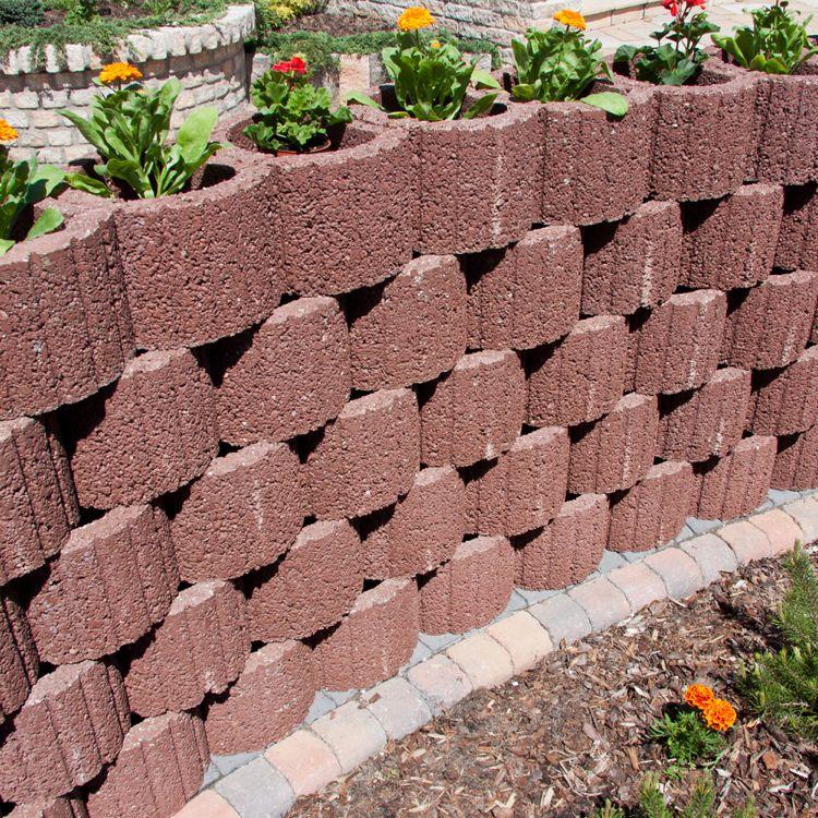 Pflanzringe Beton pflanzringe beton setzen gartengestaltung rot ziegelrot rund