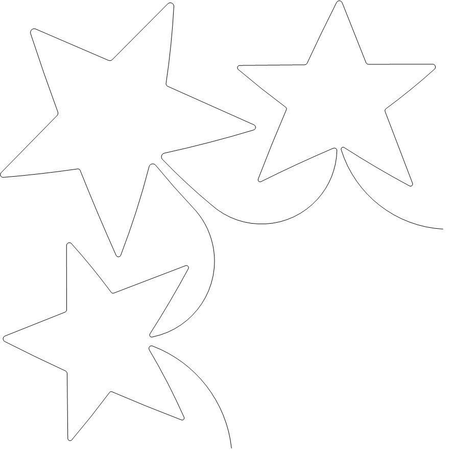 Elegant Stars L Border - 1533   plantillas acolchar   Pinterest ...