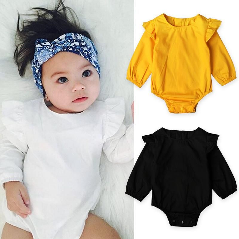 e9bd9cb4b739 Long Sleeve Ruffled Romper Baby Girl Clothes Baby Boy Clothes Baby Clothes  Newborn Baby Clothes Clothing Vintage Inspired The Trendy Bunny