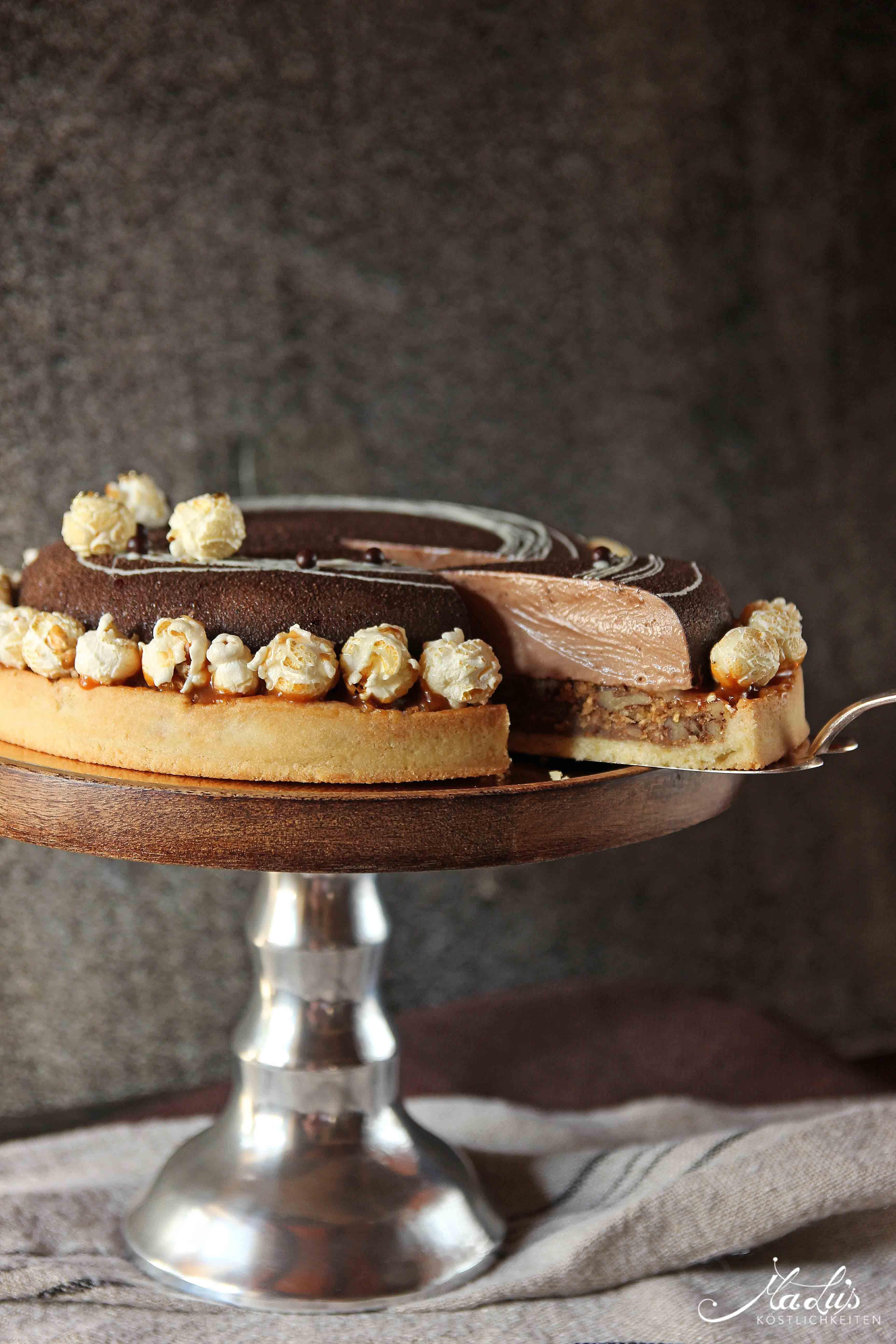 Schoko Nuss Torte Mit Popcorn Malu S Kostlichkeiten Pinterest