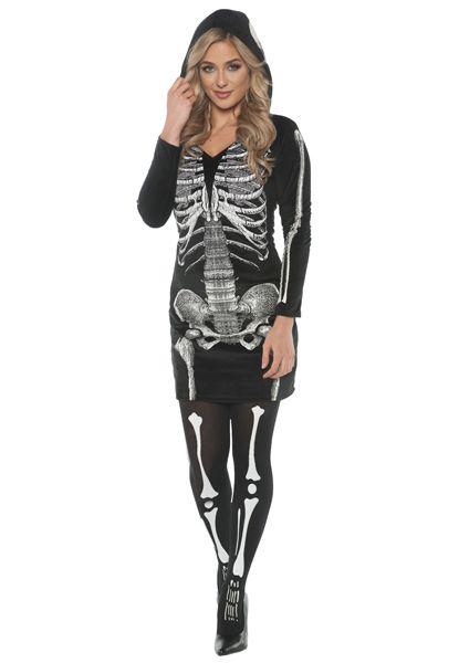 women\u0027s skeletal hoodie best halloween costume by halloween express