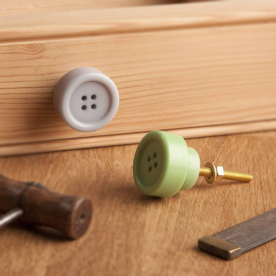 button drawer knobs by the contemporary home   notonthehighstreet ...