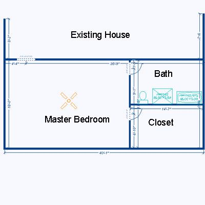 Master Bedroom Extension Ideas room addition plans | example of large room addition floor plan
