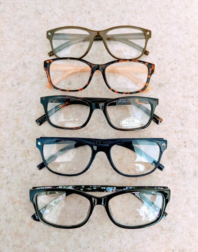 2.0 Reading Glasses Lot Of 5 Adrienne Vittadini Nine West