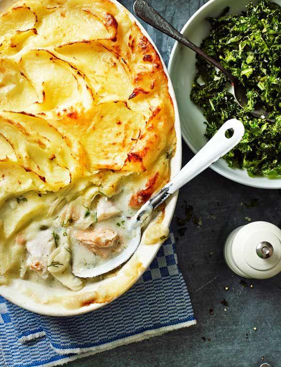 Dairy-free fish pie with crispy kale | Recipe | Gluten ...