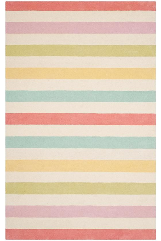 Martha Stewart Living™ Kids Circus Stripe Area Rug In Peony