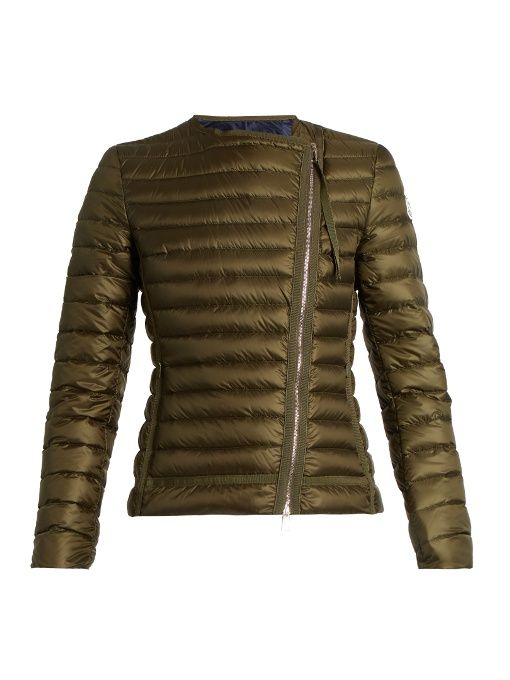 MONCLER Amy Asymmetric Quilted Down Jacket. #moncler #cloth #jacket