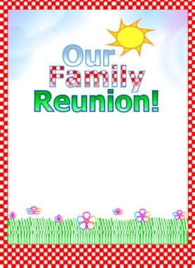 Lovely Family Reunion Flyer. Download Edit And Print, Part Of Fimarku0027s Family  Reunion Planner Social To Free Printable Family Reunion Invitations