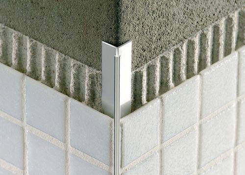 Tile Edge Trim In Aluminium Concealed Outside Corner Mosaictec Rjf Profilitec Tile Edge Tile Edge Trim Bathroom Design